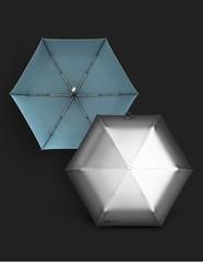 Ультратонкий элитный зонт, 6 спиц  (OLYCAT) с зеркальным блеском (серебрянный)
