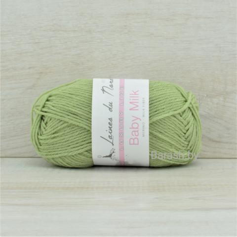 Пряжа Baby Milk (Бэби милк) Светло-зеленый