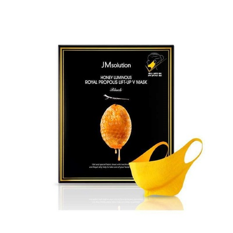 JMsolution Honey Luminous Royal Propolis Lift-Up V Mask лифтинг-маска для V зоны с прополисом