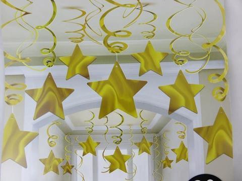 Cпираль звезда gold 46-60 см 30 шт/A