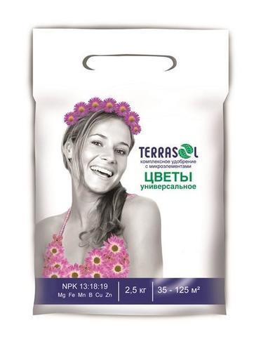 Удобрение TerraSol 2,5кг тукосмесь цветы