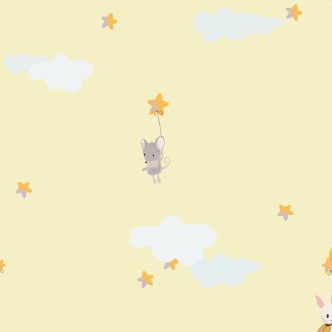 Зайчик и мышка на воздушном шаре