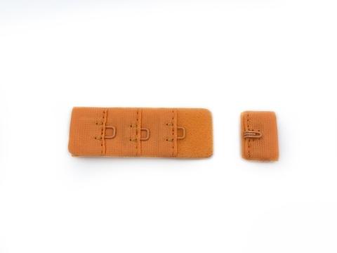 Застежка с крючками оранжевая 1 ряд