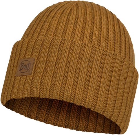 Вязаная шерстяная шапка Buff Hat Wool Knitted Ervin Mustard фото 1