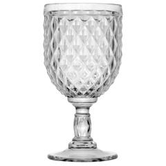 Wine Glass Diamond Clear, 6 Pc