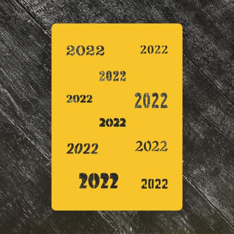 Трафарет Новый год 2022 №1