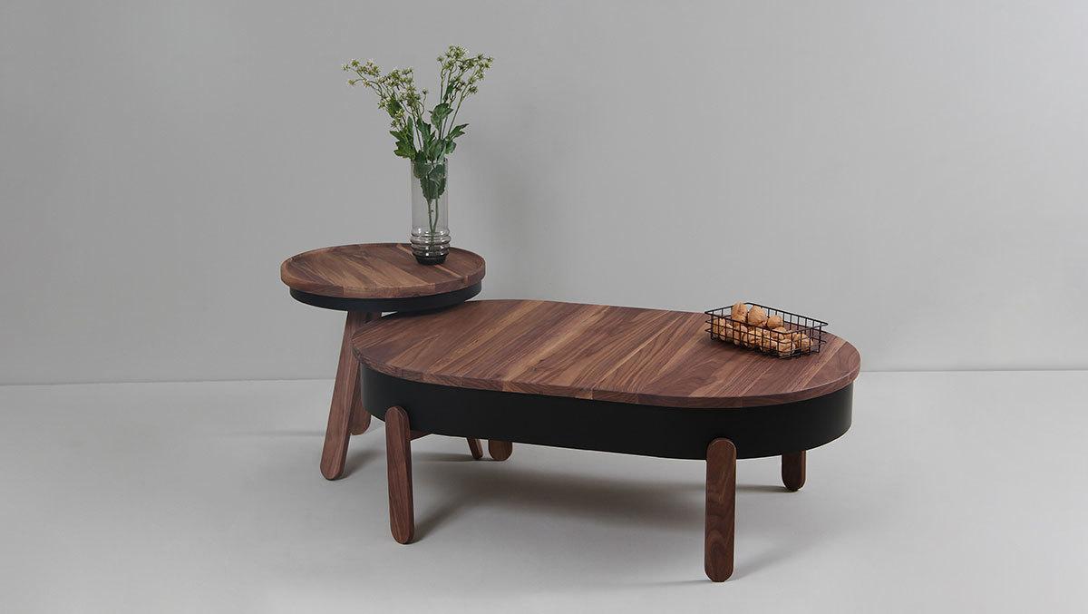 Кофейный столик Batea S орех - вид 6