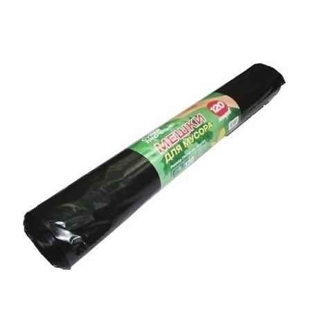 Мешки мусорные 120л 70х110 (40) в рулонах ПБ зелёная упаковка