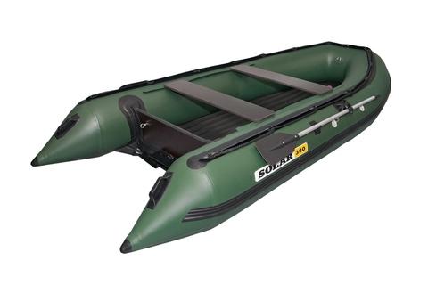 Надувная ПВХ-лодка Солар - 380 Jet Tunnel (зеленый)