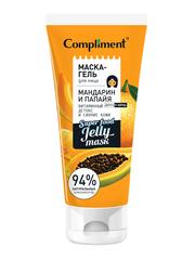 Compliment маска-гель для лица МАНДАРИН И ПАПАЙЯ витаминный детокс и сияние кожи