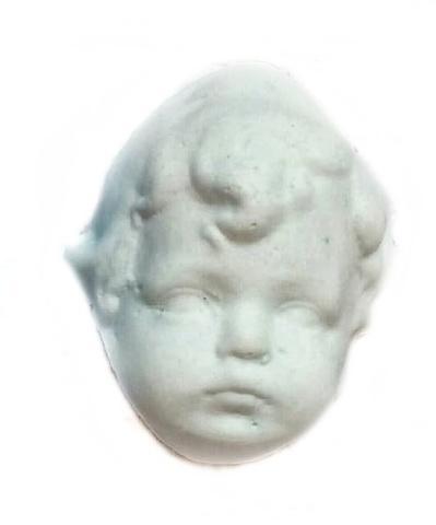 Д0375 Пластиковый декор Голова (лицо) детская кудрявая