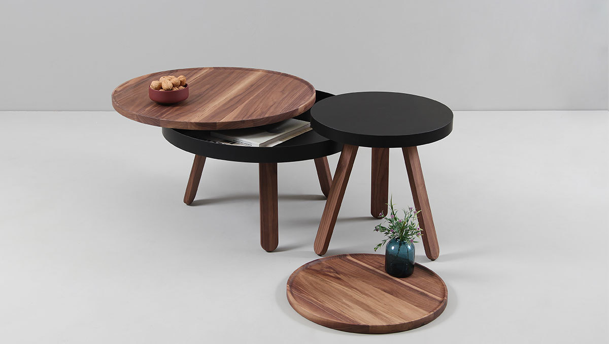 Кофейный столик Batea S орех - вид 4