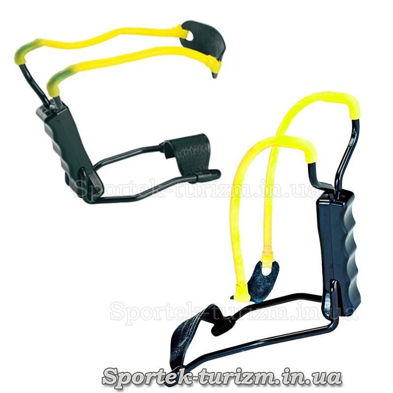 Рогатка Man Kung MK-T11  (черно-желтая) с упором