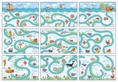 IQ лото Линии и контуры (комплект из 3 игр), Айрис Пресс