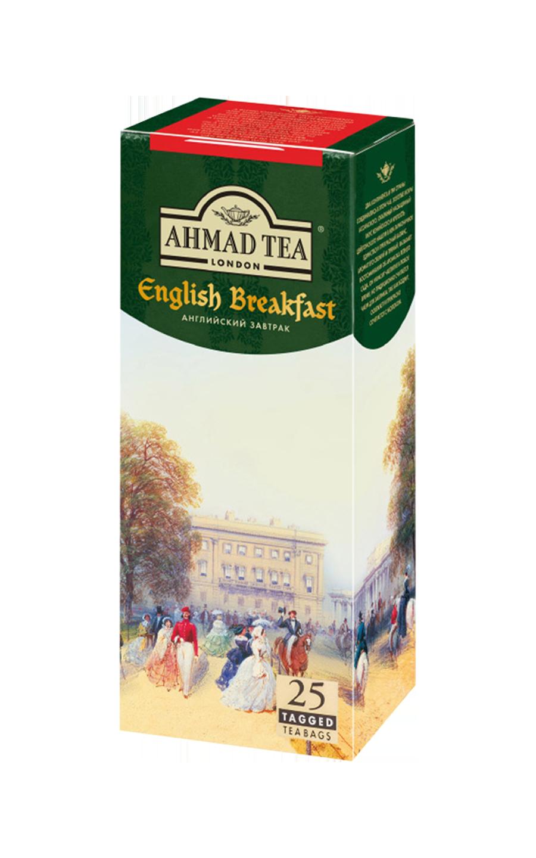 Ahmad tea English breakfast в пакетиках, 25 шт