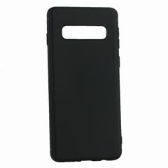 Чехол-накладка силиконовый Innovation Matt 0.6mm для Samsung Galaxy S10 Plus Черный