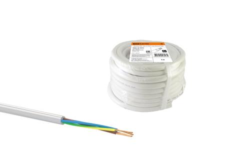 Провод ПВС 4х2,5 ГОСТ (30м), белый TDM