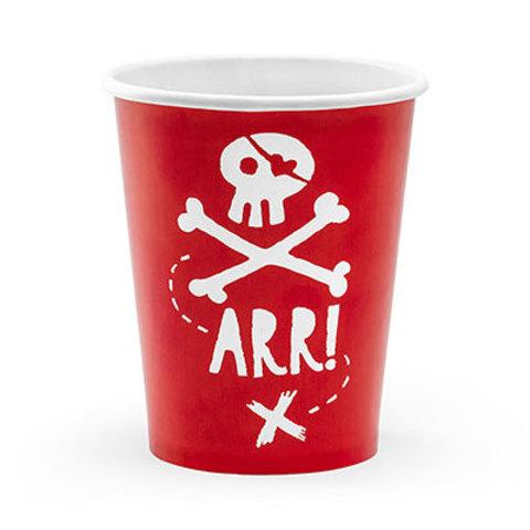 Стаканы Пират PARTY, 6 штук