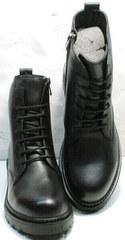 Мягкие женские ботинки из натуральной кожи осень весна Misss Roy 252-01 Black Leather.