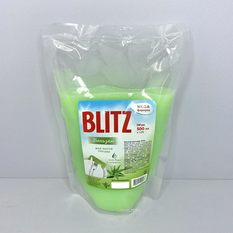 Бальзам для мытья посуды Blitz 500 мл дой пак, Алоэ вера