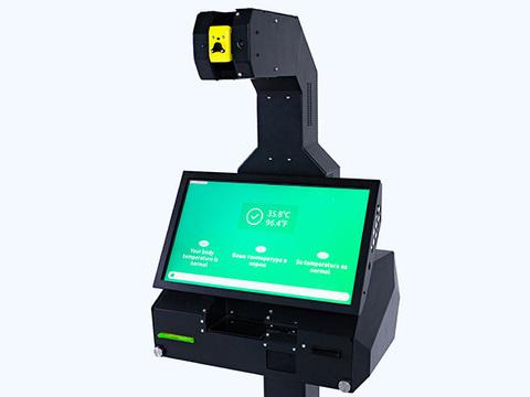 Автономный терминал для бесконтактного измерения температуры тела и выдачи пропусков Promobot Control