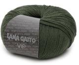 Пряжа Lana Gatto VIP 8434 темно-зеленый