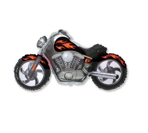 Фольгированный шар Мотоцикл черный