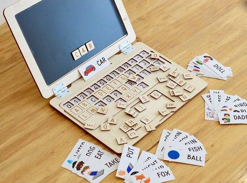 Английская раскладка для ноутбука+40 карточек RADUGA KIDS