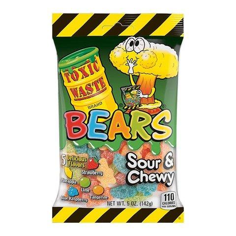 Кислый мармелад Toxic Waste Bears Sour&Chewy 142 гр