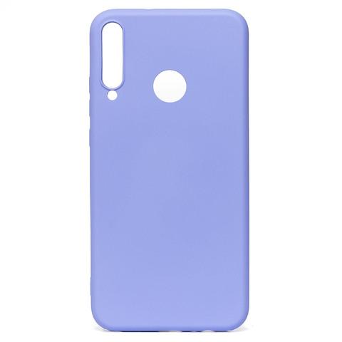 Чехол для Huawei Honor 9С/P40 Lite E Софт тач мягкий эффект   микрофибра светло-фиолетовый