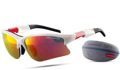 Очки лыжные Noname Wolfracing белый-красный