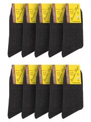 19-1 носки мужские, серые (10шт)