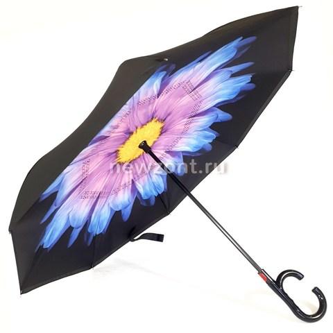 Зонт-наоборот георгин фиолетовый п/автомат (закрытие)