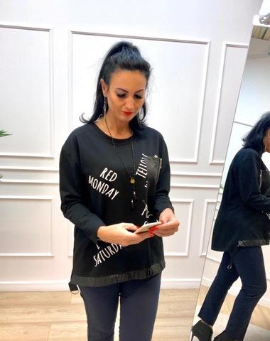 Блузка Teresa карман надписи