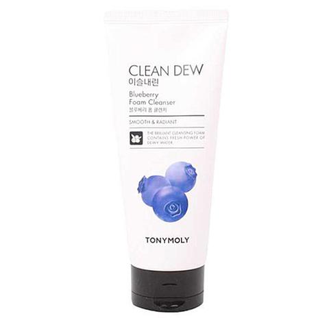 TONY MOLY Пенка очищающая для умывания с экстрактом черники Clean Dew Blueberry Foam Cleanser 180 мл.