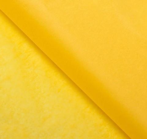 Бумага упаковочная тишью, желтый, 50 х 66 см