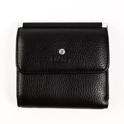 Маленький квадратный кошелёк чёрный женский Coscet иск.кожа CS404-108A