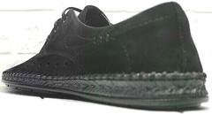 Черные туфли мужские мокасины на шнурках летние смарт кэжуал Luciano Bellini 91754-S-315 All Black.