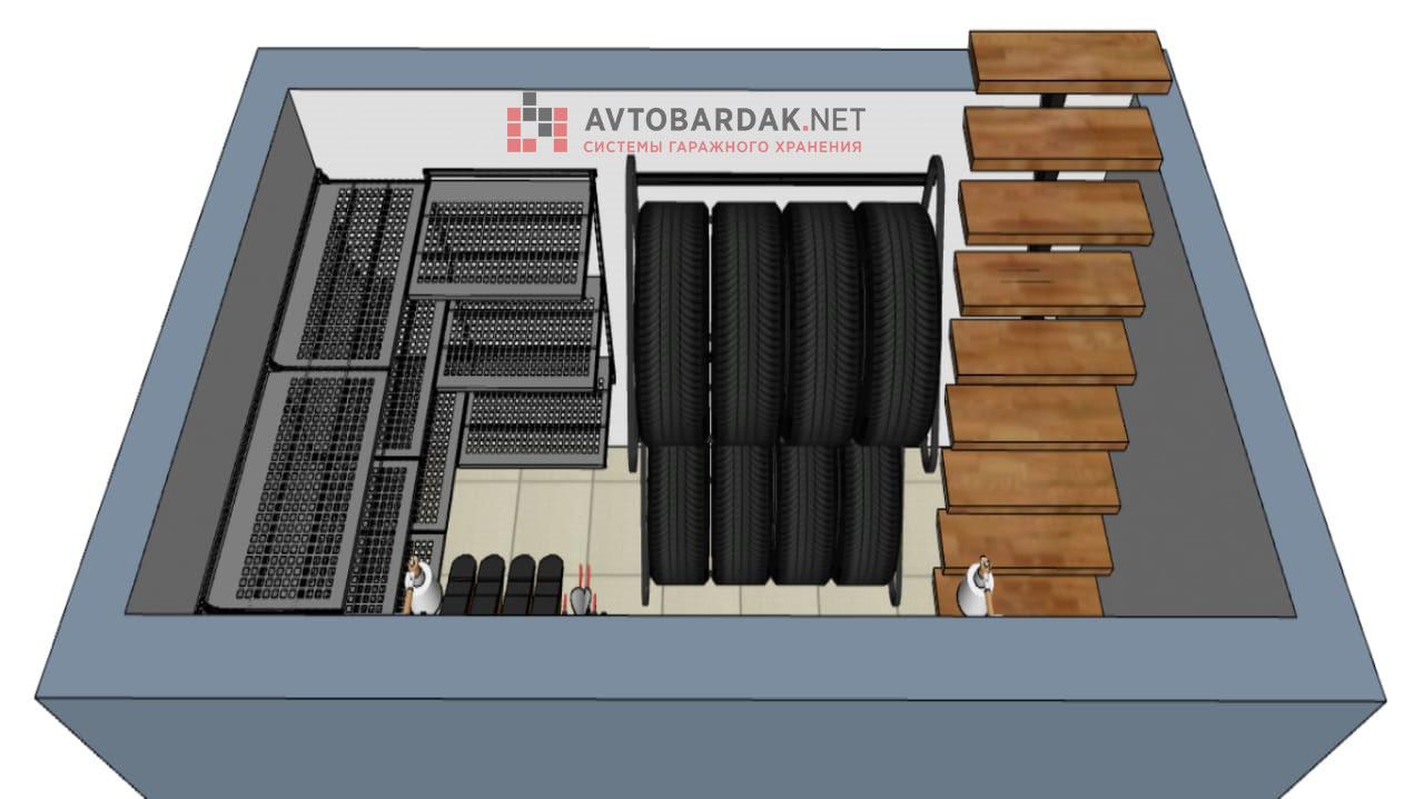 Проект № 11: кладовка 6, 8 кв м в цоколе + видео