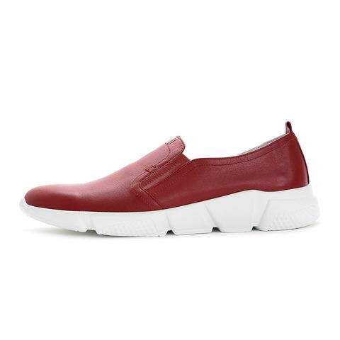 Слипоны кожаные vorsh v531 красные купить