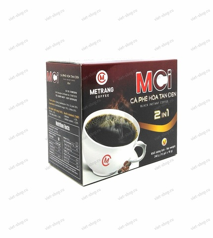 Вьетнамский растворимый кофе Me Trang MCI 2 в 1 (кофе+сахар), 15 пак., 240 гр.