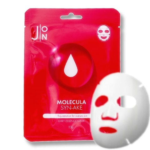 Тканевая маска для лица ЗМЕИННЫЙ ПЕПТИД J:ON Molecula  Syn-Ake Daily Essence Mask, 23 ml