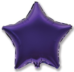 Шар звезда фиолетовый
