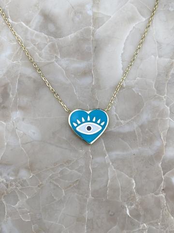 Колье Нааза из серебра с голубой эмалью