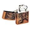 Зажигалка Zippo Boot Laces, латунь с покрытием Toffee, бронзовая, 36х12x56 мм