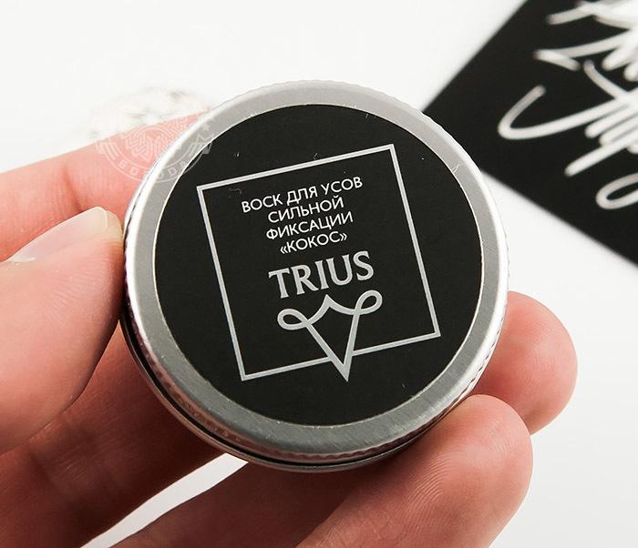 RAZ245-1 Воск для усов сильной виксации TRIUS «Кокос» (14 мл) фото 03