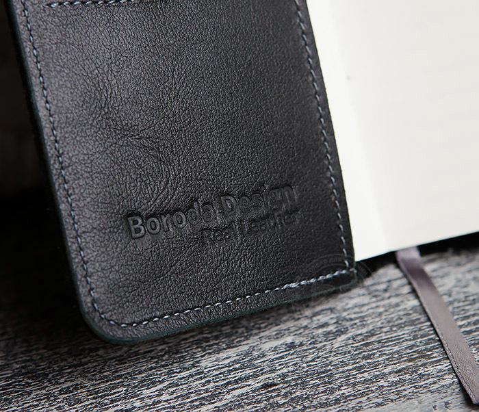 BC136-1 Кожаный блокнот ручной работы со сменным блоком (А6) фото 07