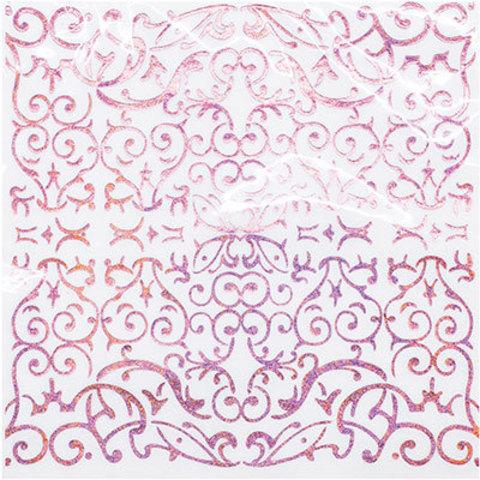 1502-4087 Салфетки голографические розовые, 6 шт