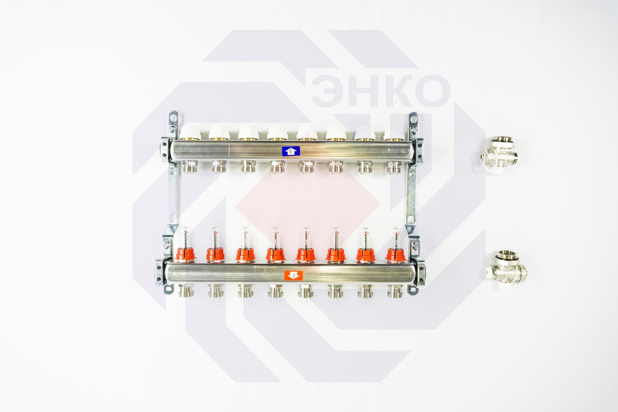 Комплект коллекторов с расходомерами ITAP 918C 8 контуров