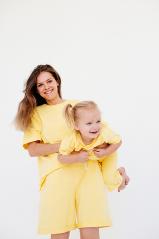 Костюм весенний банановый Мама/папа